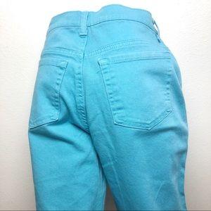 AMANDA GV Teal Blue Skinny Straight Colored Jean 8